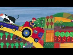 """Driving my Tractor, """"chug, chug, clank, clank, toot! It's a very busy day."""" 