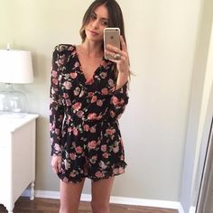 Our summer obsession? Floral rompers. // Make this one yours when you shop on Poshmark