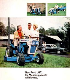 1967 Ford 120 Lawn & Garden Tractor #mustang