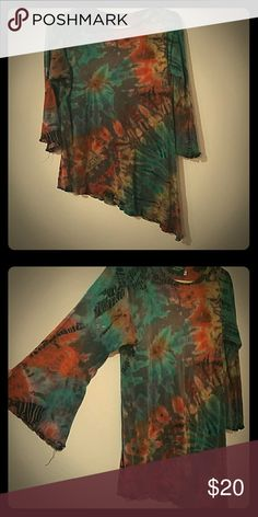 Colorful fairy Fits a extra large as a shirt but all other sizes it's really long and could make a wonderful short dress. Hand made. Tops