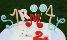 How to Make Number & Letter Toppers-Video