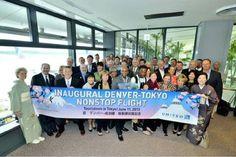 Denver Delegation arrives at Tokyo's Narita Airport on June 11, 2013 as part of Denver-Tokyo Inaugural flight celebration