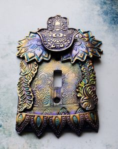 ARE YOU FREAKING KIDDING ME!? Purple Hamsa light switch cover switch plate by TMBakerDesigns