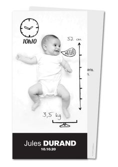 faire part naissance bulle hello dessins aux traits Birth announcement