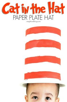 Cat in the Hat Paper Plate Hat - A Night Owl Blog