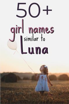 Luna is a gorgeous name, but it's not for everyone. If you're looking for a name like Luna, but slightly different, this list will help you find the perfect baby name! Gorgeous Girl Names, Cute Baby Girl Names, Rare Baby Names, Pretty Names, Cutest Baby Names, Nature Names For Girls, List Of Girls Names, Unique Girl Names, Traditional Girl Names