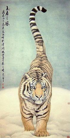 Tiger Sketch, Tiger Drawing, Tiger Painting, Tiger Art, Big Cats Art, Cat Art, Japanese Drawings, Japanese Art, Tatoo Tiger