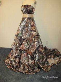 camoflauge wedding dresses   ... Brides & Couples Who Love The Outdoors - A line of camo bridal gowns