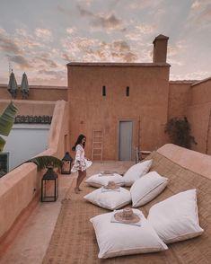 The Chic Girl& Guide to Marrakech, Morocco Marrakech Travel, Morocco Travel, Marrakech Morocco, Casa Magnolia, Pintura Exterior, Visit Morocco, Moroccan Interiors, Rooftop Terrace, Architecture