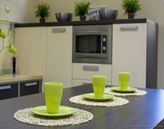 #Kitchen Decorating Idea of the Day: A touch of green adds a refreshing touch!