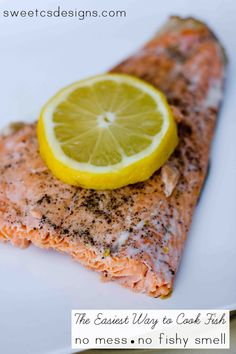 the easiest way to cook fish- with no mess or fishy smell! This lemon butter poached fish recipe is perfect for any type of fish and will be your new go-to recipe!