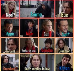 Everyone is friggin related OUAT messed up family tree Once Upon A Time Funny, Once Up A Time, Ouat Family Tree, Outlaw Queen, Colin O'donoghue, Fandoms, Film Serie, Best Shows Ever, Best Tv