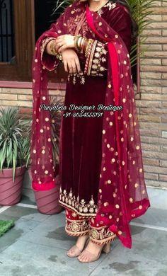 Punjabi Suit Boutique, Punjabi Suits Designer Boutique, Boutique Suits, Indian Designer Suits, Boutique Fashion, Simple Pakistani Dresses, Pakistani Bridal Dresses, Pakistani Dress Design, Pakistani Outfits