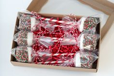 Boxed Marshmallow Pops- by Glorious Treats - keep this in mind for next year.