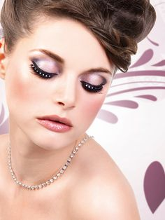 Glamour - Black-White Rhinestone Eyelashes 586 | Dancesport Fashion @ DanceShopper.com