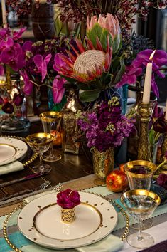 Gorgeous rich and elegant table.