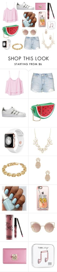 """summer look #1"" by cherlina-nelemans2003 on Polyvore featuring mode, MANGO, Topshop, adidas Originals, Charlotte Russe, Calvin Klein, Sole Society, Casetify en WithChic"