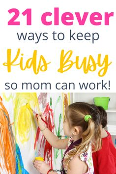 Work from home as a busy mom with these clever kid and toddler activities to keep kids busy and not board. #kidactivities #toddleractiviteis Business For Kids, Online Business, Kids And Parenting, Parenting Hacks, How To Start A Blog, How To Make Money, Clever Kids, Good Time Management, Blog Planner