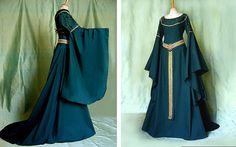 Mittelalter Kleid TALRIEL Elfenkleid Larp Eowyn by Elfenkleider