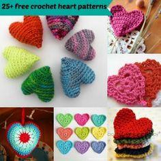 25 free easy crochet heart pattern by jennyandteddy Easy Crochet Hat, Crochet Fish, Crochet Motif, Crochet Crafts, Yarn Crafts, Crochet Flowers, Crochet Projects, Free Crochet, Crochet Patterns