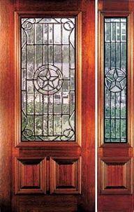 Texas Star front door with half side light panel