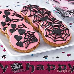 Spin-up cookies with a little web appeal! Creep over to our Monster High Cookies how-to for decorating details!