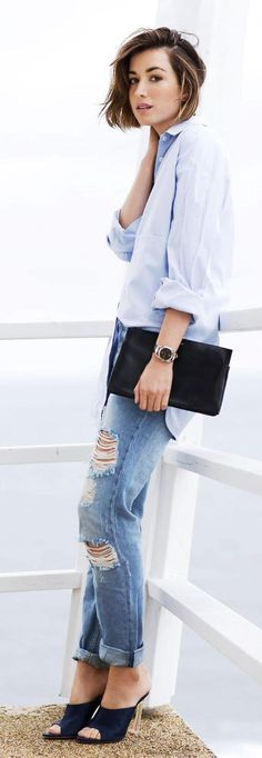 Blue And Black Week-end Style                                                                             Source