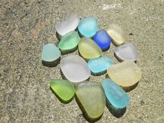 Lovely sea glass colors smalls lot, authentic greek beach glass supply by BeniciaSeaglass on Etsy