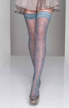 light blue paisley stockings