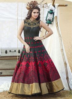 printed anarkali gown - Google Search