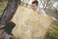 A Long Distance Love - Travel themed engagement session photographed by The Bird & The Bear - via ruffled