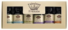 Fabulous Frannie High-Quality 6-Pack Aromatherapy Basic Sampler Gift Set of 100% Pure Therapeutic Grade 10ml Essential Oils (Eucalyptus, Lavender, Peppermint, Rosemary, Sweet Orange, Tea Tree) * You can get more details here : aromatherapy oils