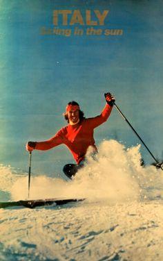 vintage ski poster Italy                                                                                                                                                                                 Mehr