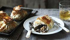 Mushroom Purses Carluccio's tasty wild mushrooms encased in filo pastry make a stunning vegetarian centerpiece.