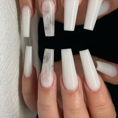 In search for some nail designs and some ideas for your nails? Here is our listing of must-try coffin acrylic nails for trendy women. White Acrylic Nails, Summer Acrylic Nails, Best Acrylic Nails, Long White Nails, White Acrylics, Summer Nails, Gorgeous Nails, Pretty Nails, Perfect Nails