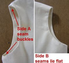 how to get lined or faced arm and neck holes to lie flat..