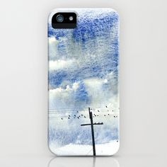 Bird on a wire iPhone & iPod Case by Denise Comeau - $35.00