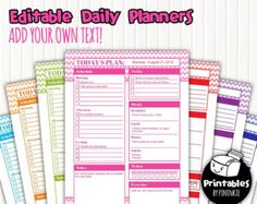Microsoft Daily Planner Daily Planner Printable  Tracks Income Expenses Health To Do .