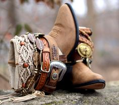 neutral boho western boots from TheLookFactory on Etsy
