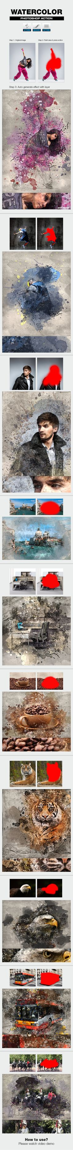 Watercolor - Actions Photoshop