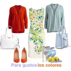 Para gustos los colores by ulstblog on Polyvore featuring moda, Wallis, VILA, Christian Louboutin, MSGM, Brooks Brothers and Rebecca Minkoff