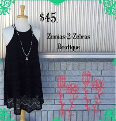 Lace LBD!!! We LOVE a swing/slip dress!! Also available in ivory lace!  (Running small!) $45. S-M-L