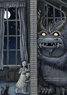 Nicola L Robinson Monster Listening Party Monster Illustration book illustration – Best Books Monster Illustration, Children's Book Illustration, Book Illustrations, Monster Art, Monster High, Arte Robot, Arte Obscura, Cute Monsters, Arte Horror