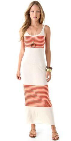 Haute hippie Striped Maxi Tank Dress $265