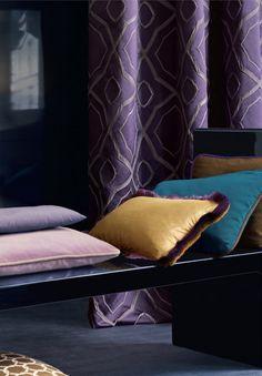 Le velours, c'est tendance - coussins en velours , décoration salon