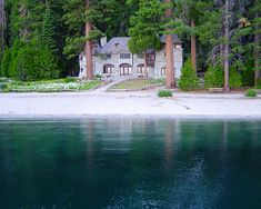The BEAUTIFUL Vikingsholm castle located at the head of Emerald Bay in Lake Tahoe, California
