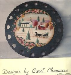 CAROL CHAMNESS Winterscene Decorative Tole Painting Pattern Packet OOP