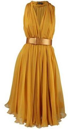Women's Yellow Alexander Mcqueen Dress Alexander Mcqueen : Gorgeous as the sunshine on a summer day, Alexander McQueen's sleeveless silk scarf dress is a picturesque dream of a dress Scarf Dress, Dress Skirt, Dress Up, Dress Belts, Flowy Skirt, Dress Casual, Black Party Dresses, Summer Dresses, Party Dresses For Women