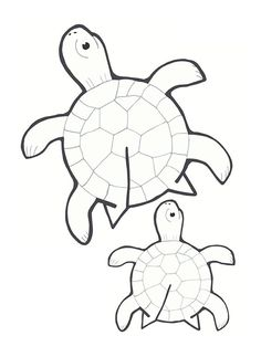Easy to use three-dimensional paper with a simple method . Art For Kids, Crafts For Kids, Arts And Crafts, Paper Art, Paper Crafts, Turtle Crafts, Kindergarten Art Projects, Printable Crafts, Printable Paper