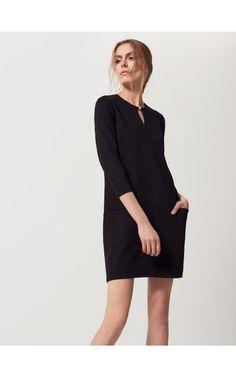 Box dress with pockets, DRESSES, black, MOHITO